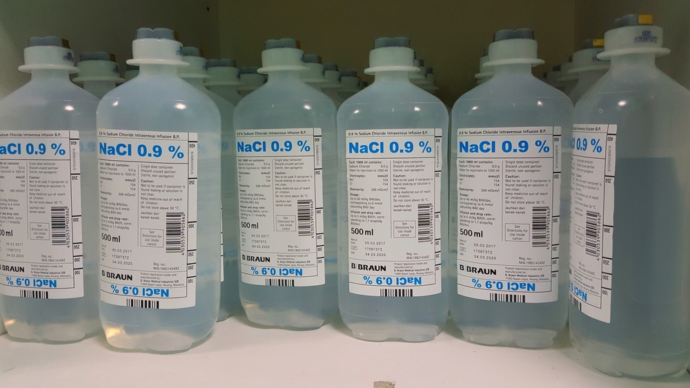 Less commonly, this solution is referred to as physiological saline or  isotonic saline